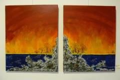 2008-3 tweeluik zonsondergang