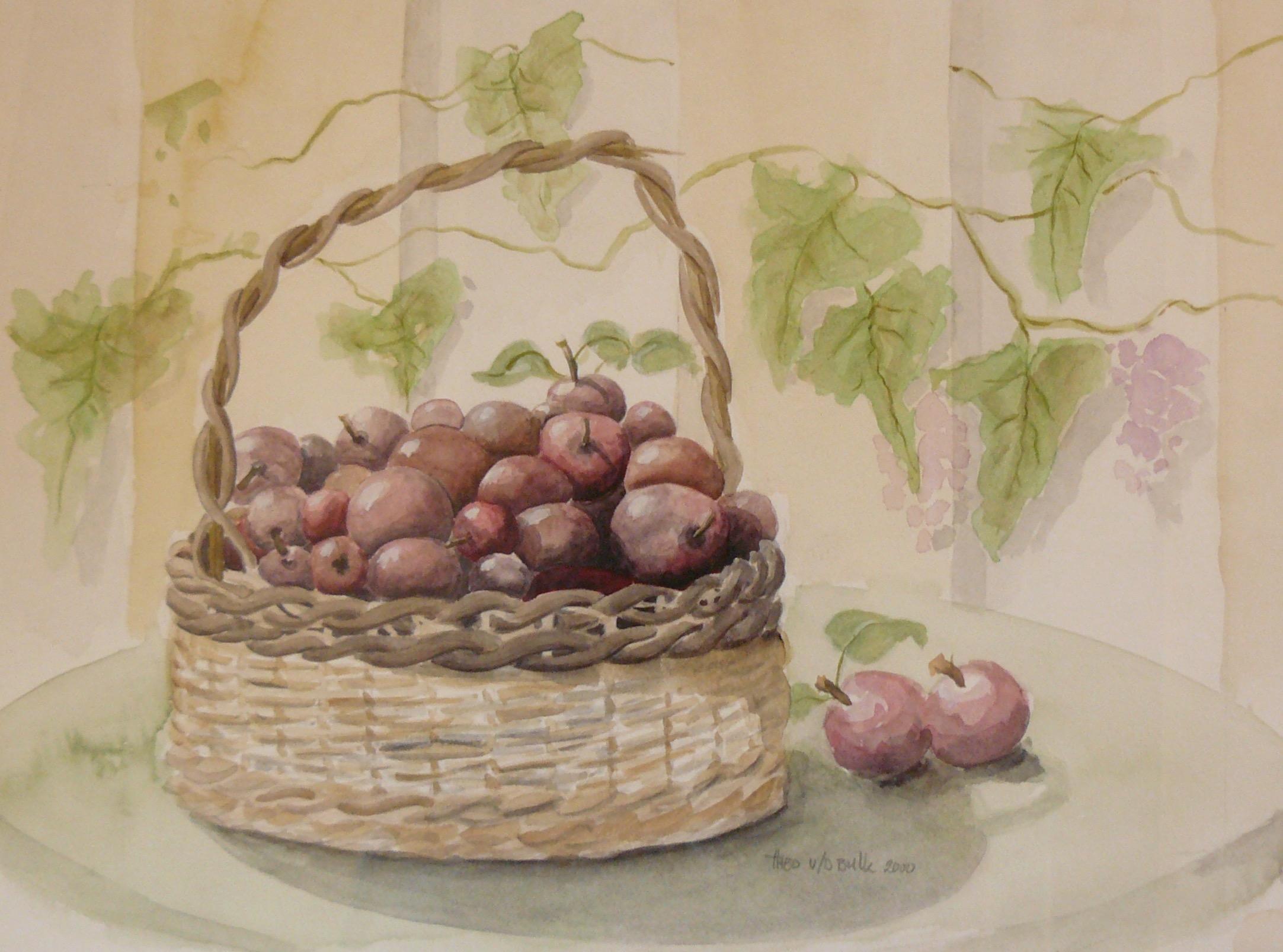 2000-001 mand met appels