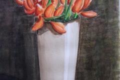 2001-005 vaas met tulpen