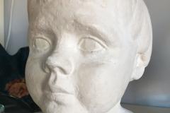 1978-2 portret Ellen 3 jaar oud (gips)